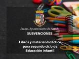 Mañana se abre el plazo para solicitar subvenciones para libros y material de segundo ciclo de Educación Infantil