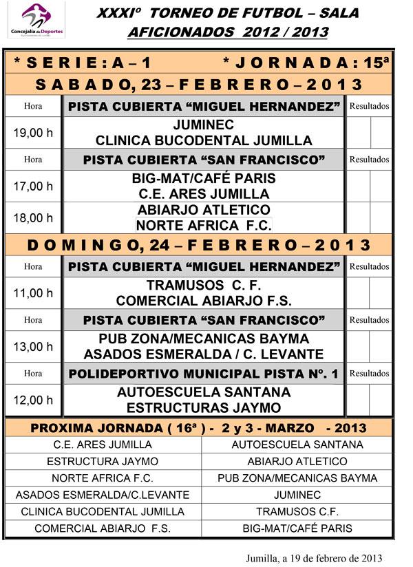 horario partidos de liga: