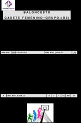Clasificaciones  Baloncesto 16 y 17 -  2016-1.2