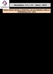 Resultados 23 Y 24 Enero 2016-2