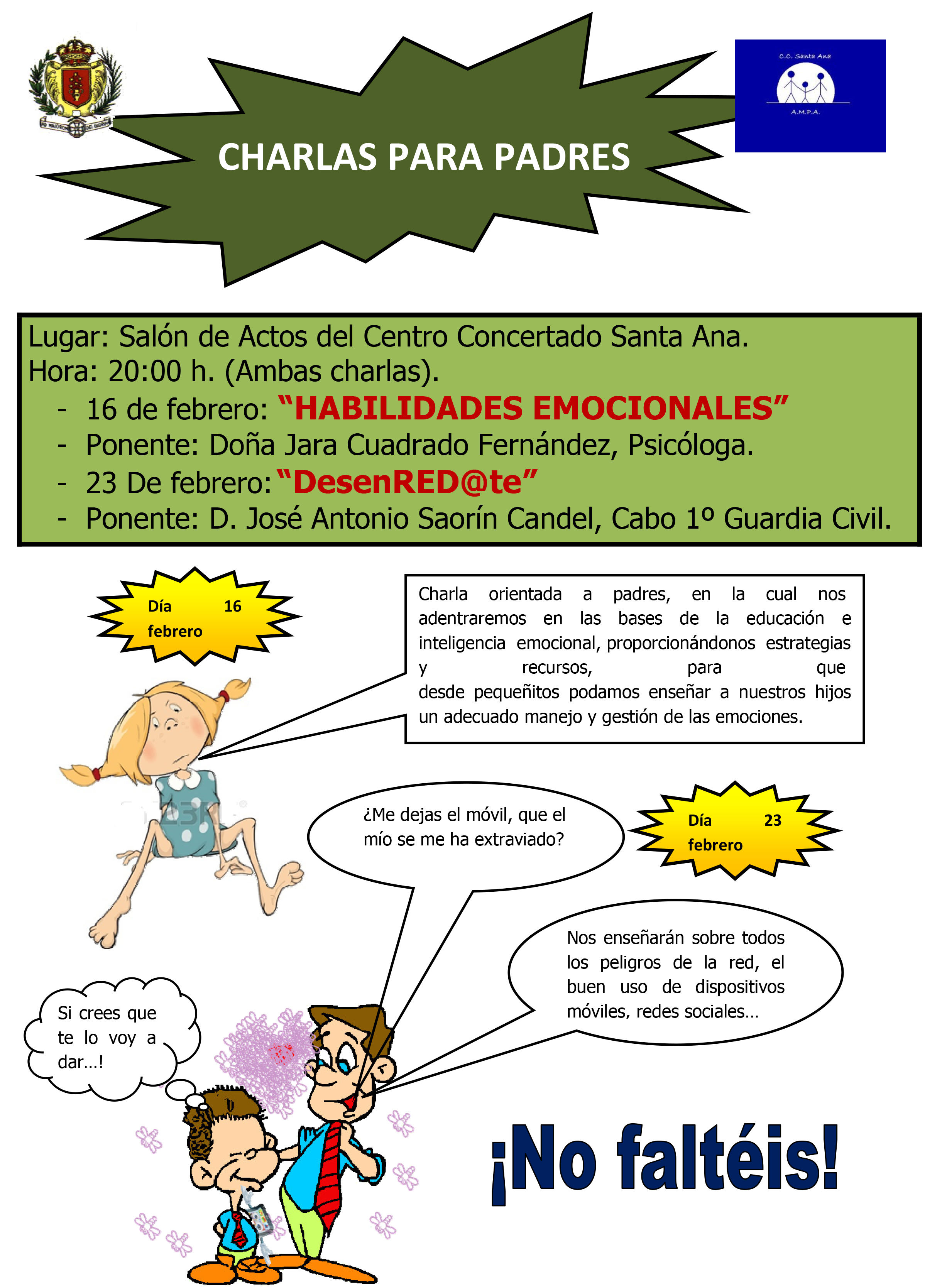 El CC Santa Ana realiza unas charlas para padres sobre educación e ...
