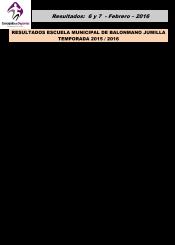 Resultados 6 y 7 Febrero 2016-1