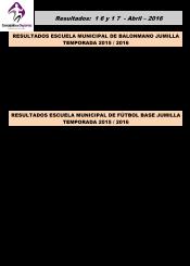 Resultados 16 y 17 Abril 2016-2