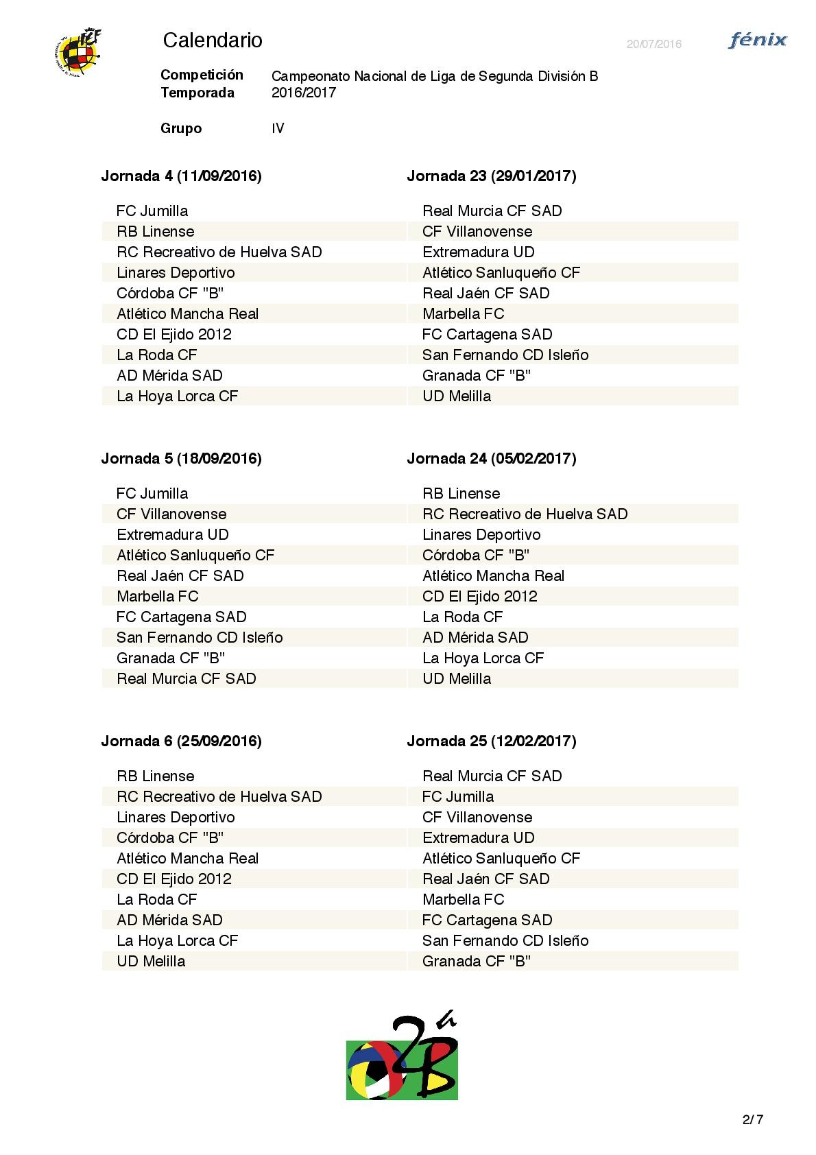La RFEF ha dado a conocer el calendario de la Segunda División B ...