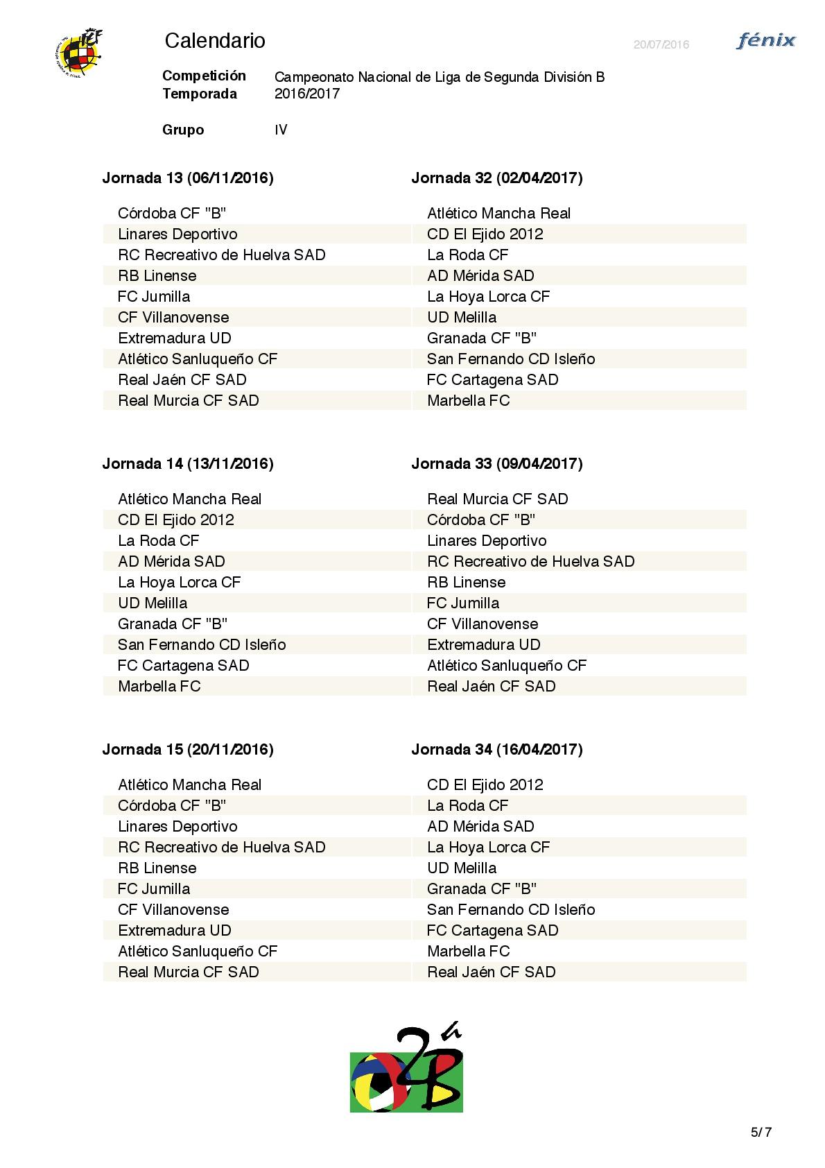 Calendario Segunda B.La Rfef Ha Dado A Conocer El Calendario De La Segunda Division B