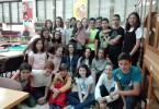Los alumnos de 1º ESO B con su Bestiario