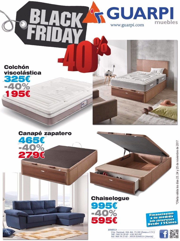 black friday en guarpi muebles el eco de jumilla. Black Bedroom Furniture Sets. Home Design Ideas