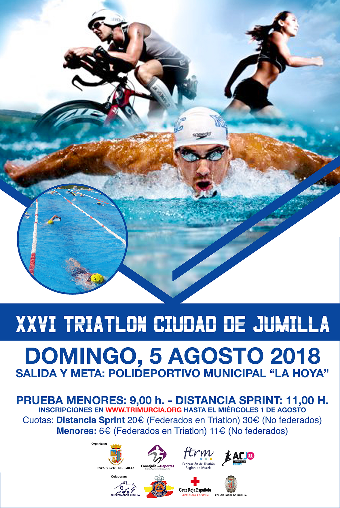 Cartel Triatlón 2018